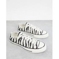 Converse Chuck 70 Ox Archive zebra print sneakers in black/white