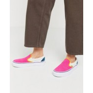 Vans Classic Slip-On Platform Color Block sneaker in multi