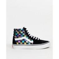Vans SK8-Hi sneakers in iridescent check