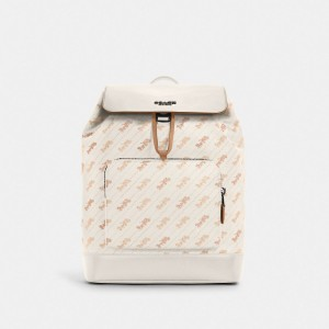 Turner Backpack With Horse And Carriage Dot Print