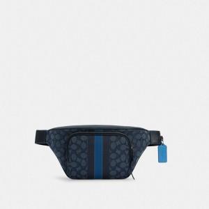 Thompson Belt Bag In Signature Jacquard With Varsity Stripe
