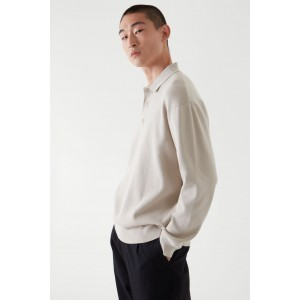 RELAXED-FIT KNITTED POLO SHIRT