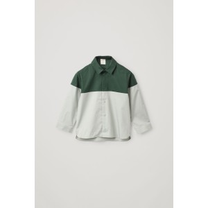COLOR-BLOCK COTTON SHIRT