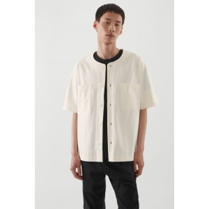 RELAXED-FIT KNITTED SILK SHIRT