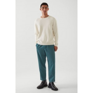RELAXED-FIT TWILL TAPERED PANTS