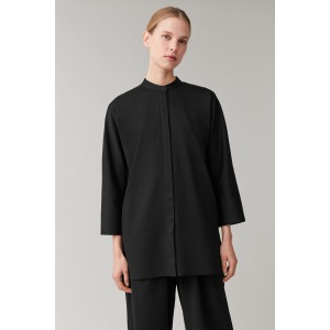 COTTON SHIRT WITH BONDED HEM