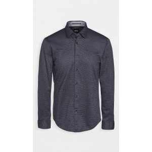 Jersey Slim Fit Button Down Shirt