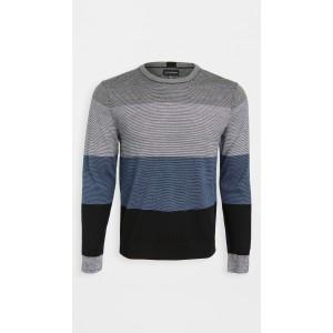 Block Merino Crew Neck Sweater