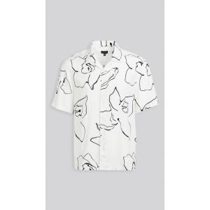 Abstract Floral Shirt