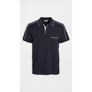 Piped Shoulder Polo Shirt