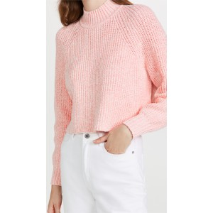 Ribbed A-Line Mock Neck Sweater
