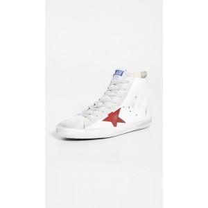 Suede Toe High Top Sneakers
