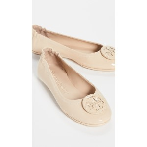 Minnie Travel Ballet Flats With Leather Logo