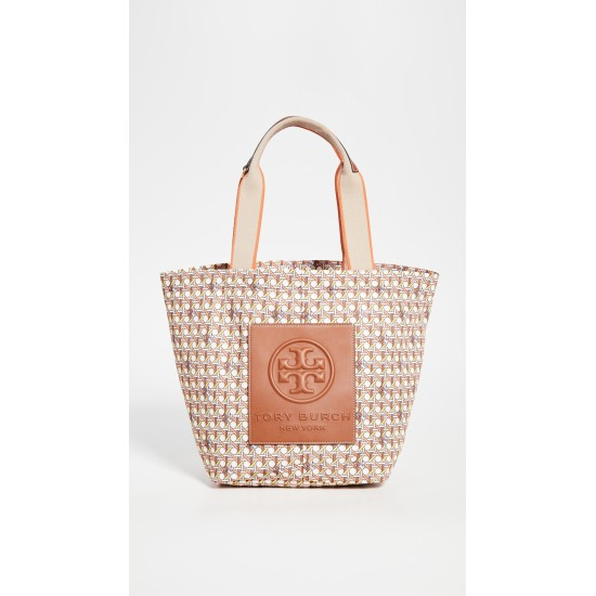 Basket Weave Printed Small Tote