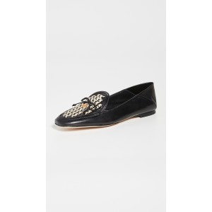 Tory Charm Woven 5mm Loafers
