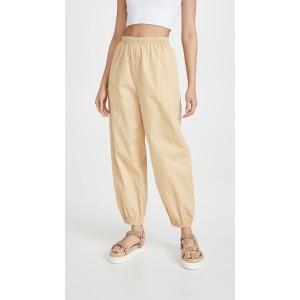 Striped Elastic Waist Pants