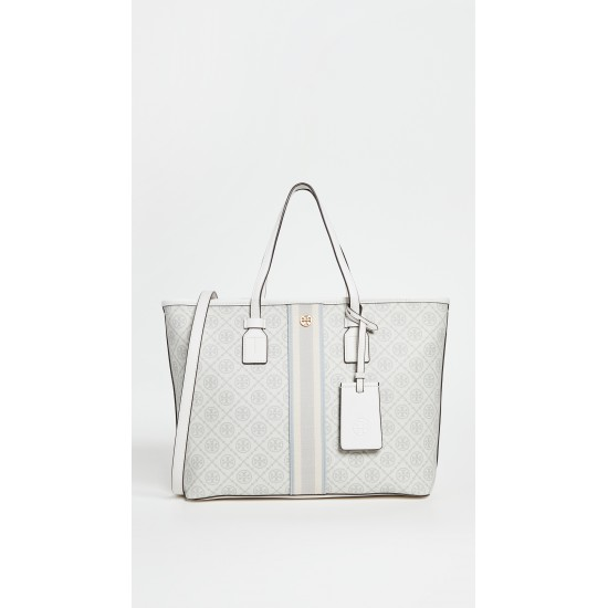 T Monogram Coated Canvas Small Tote