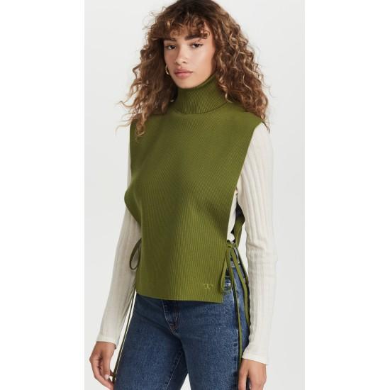 Ribbed Merino Wool Dickey Vest