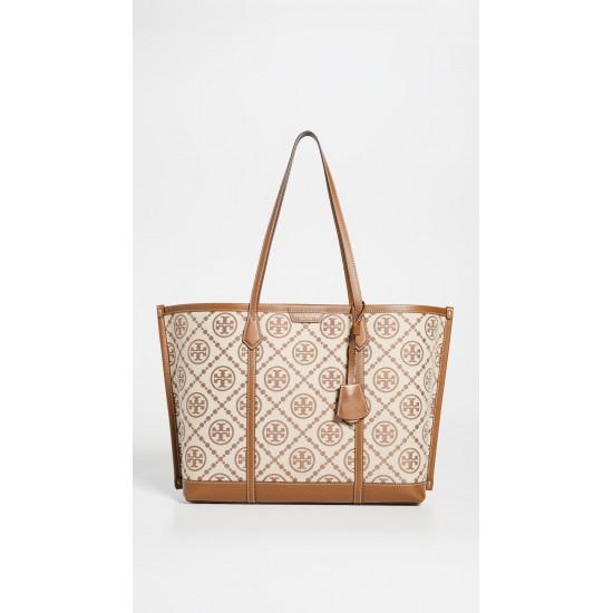 Perry T Monogram Jacquard Bag