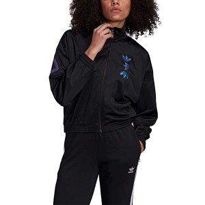 adidas Originals Large Logo Track Jacket Black/Royal Blue