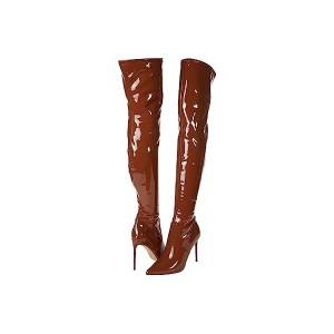 Steve Madden Viktory Over-the-Knee Boot Cognac Patent