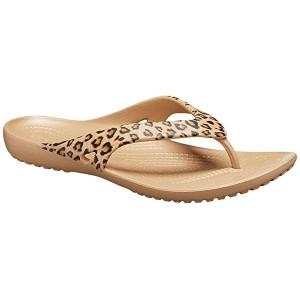 Crocs Kadee II Flip Leopard/Gold