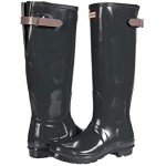 Hunter Original Back Adjustable Gloss Rain Boots Firth/Atlantis