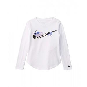 Long Sleeve Floral Swoosh Graphic T-Shirt (Toddleru002FLittle Kids)