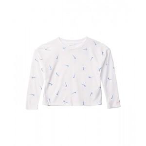 All Over Swoosh Long Sleeve Graphic T-Shirt (Toddleru002FLittle Kids)