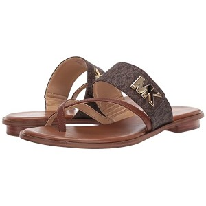 MICHAEL Michael Kors Sidney Flat Sandal Brown/Luggage