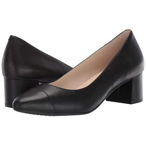 Cole Haan The Go-To Block Heel Pump 45mm Black Leather WP