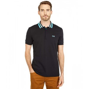 Paddy 1 Cotton-Pique Polo with Striped Mesh Collar