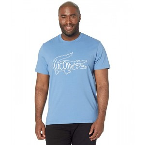 Short Sleeve Tee with Large Croc and Wording on Center Chest