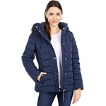 Tommy Hilfiger Short Faux Fur Trimmed Puffer Jacket Navy