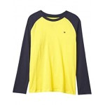 Tommy Hilfiger Kids Raglan Long Sleeve T-Shirt (Big Kids) Dandelion