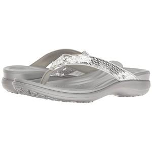 Crocs Capri Basic Strappy Flip Silver