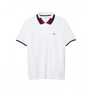 Short Sleeve Slim Fit Polo with A Semi Fancy Collar and Striped Sleeves