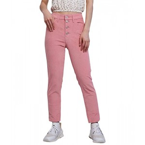 Levis Womens 721 High-Rise Button Front Skinny Blush Luxe Cord