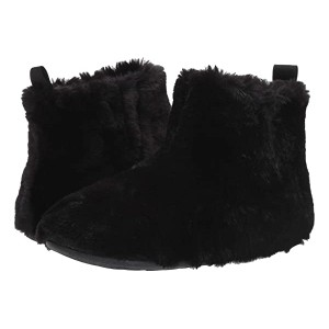 FitFlop Furry Slipper Bootie All Black