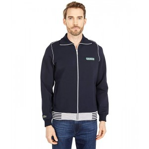 Long Sleeve Color-Blocked Striped Jacket