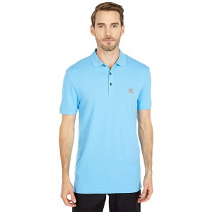 Short Sleeve Polo with Logo Patch