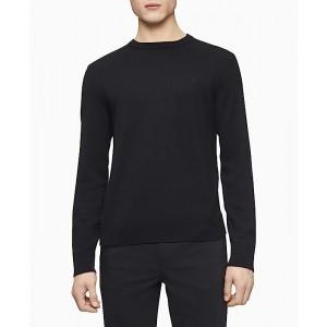 Calvin Klein Merino Crew Neck Sweater Black 2