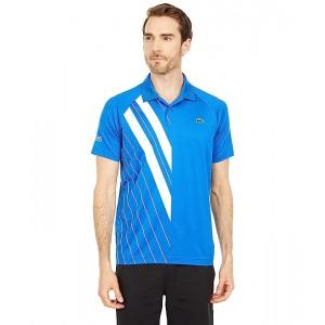 Short Sleeve Stripe Print Polo
