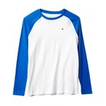 Tommy Hilfiger Kids Raglan Long Sleeve T-Shirt (Big Kids) Bright White