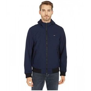 Levis Performance Soft Shell Hooded Bomber Jacket Midnight