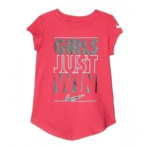 Short Sleeve Girls Just Win Logo Graphic T-Shirt (Little Kids)