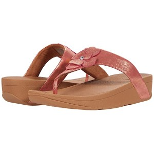 FitFlop Lottie Corsage Suede Toe Thong Heather Pink