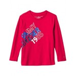 Tommy Hilfiger Kids Long Sleeve Split T-Shirt (Big Kids) Scarlet Sage