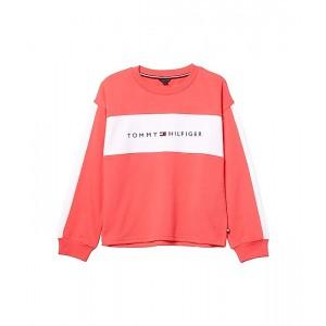 Tommy Hilfiger Kids French Terry Crew Neck Sweatshirt (Big Kids) Paradise Pink