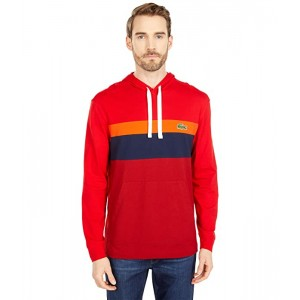 Long Sleeve Color-Blocked Hooded T-Shirt